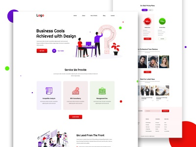 Digital Agency Ui Landing Page Template ui template landing coporate ui digital agency web page home page ui design landing page website web ux ui illustration illustrator design
