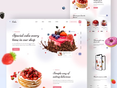 Cake Food Restaurant Landing Page chocolate candy cake bakery cake app cake home page responsive cake page chocolate cake chocolate page home page strawberry page bekary landing page cake web food web food landing page retaurant landing page cake landing page cake website cake food