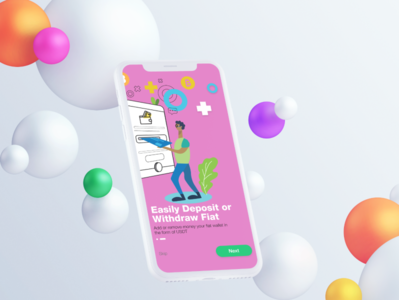 Onboarding Screen | Cryptocurrency App | Illustration