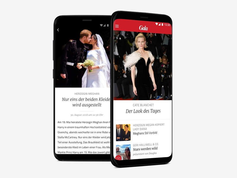 Gala App interaction design ux ui magazine app