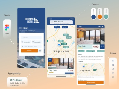 Real Estate app ios app design hotel realestate booking app mobile app ux ui