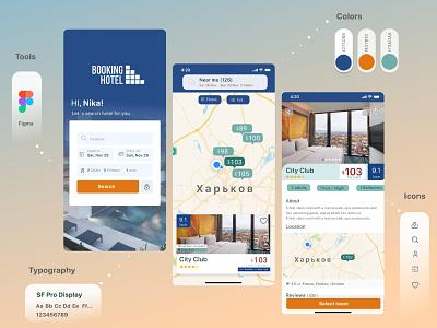 Real Estate app ios app design hotel realestate booking app mobile app ux ui