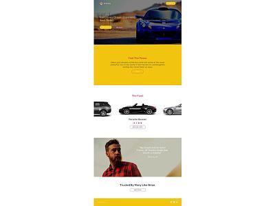Exotic Car Rental Landing Page web landing page ui design ux design