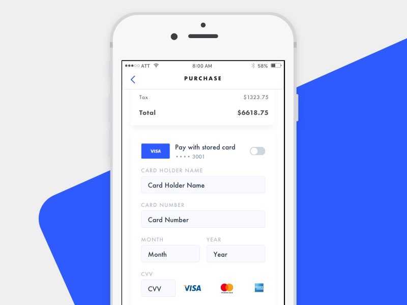 Credit Card Checkout Experiment checkout payment chuckmcquilkin ux ui design app