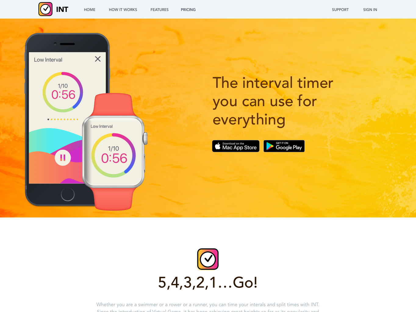 Landing Page for Timer App chuckmcquilkin web app ux ui