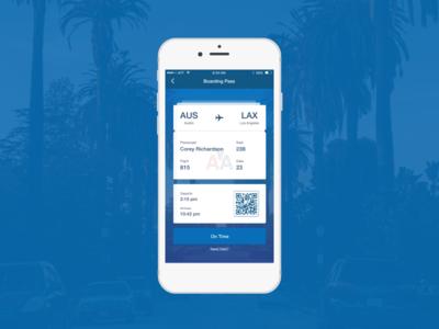 Boarding Pass App Concept