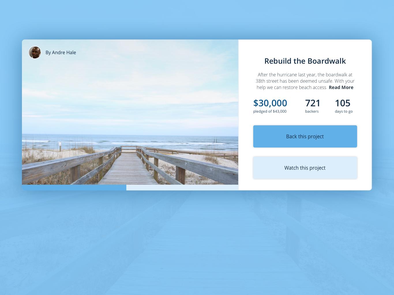 Crowd Funding Concept chuckmcquilkin crowdfunding campaign crowd funding crowdfunding crowdfund web design ui