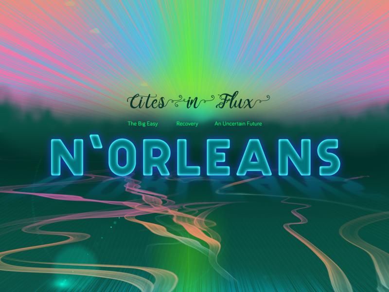 Cities in Flux - N'Orleans poster art magazine design chloe cooke-warren magazine ad magazine poster web austin designer austin designer illustration design ui