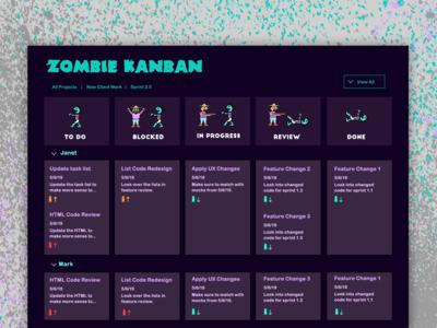 Zombie Kanban - BRAAAAIIIINNNNSSS