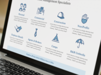 Insurance Website + Icons