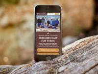Teen Summer Camp Mobile UI