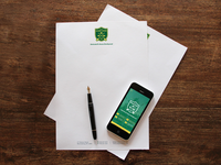 Summer Camp Letterhead + Mobile UI
