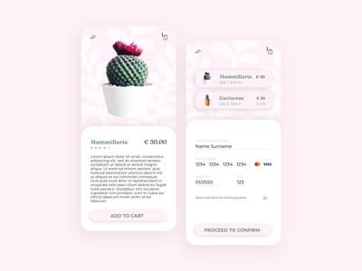 Credit Card Check out checkout plants app design app ui design ui dailyui