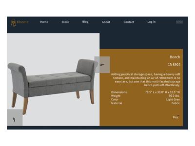 KHome - Online Store Web Design