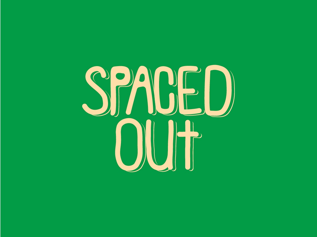 Spaced Out out spaced words illustration graphic  design adobe vector hand drawn handlettering space typographic typography