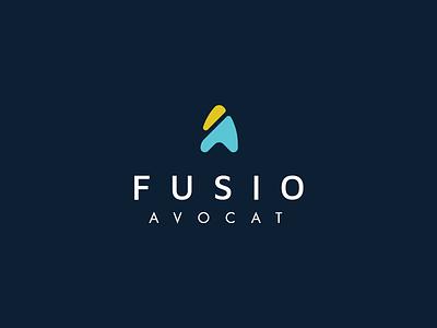 Fusio Avocat - Design Identity future chic modern law lawyer stationary brand identity design logo