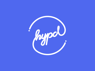 HYPD Logotype fluid handwrite event street round stationary logo brand