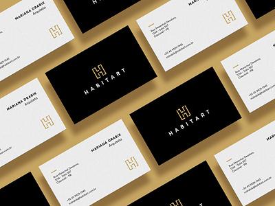 Habitart - Branding architechture branding typography identity stationary brand logo design