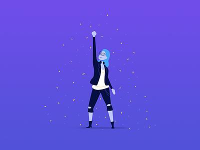 Interface: Hypd marketplace ambassador success ticket minimal icon vector concept ui illustration