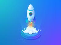 Isometric Rocket