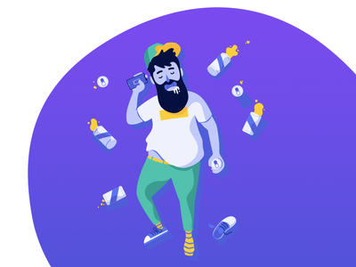 404 page: Something went wrong. saas marketplace beer event tickets illustration ambassador brand party drunk vector 404