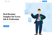Hero Illustration Resume