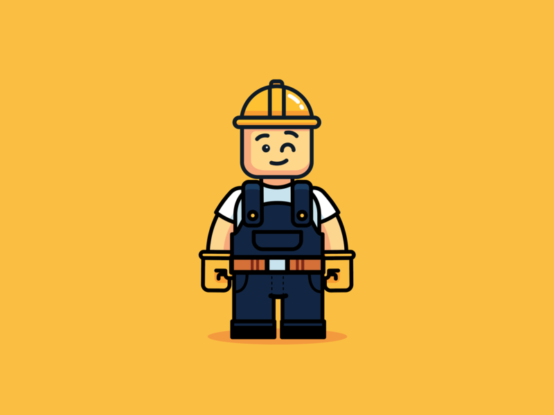Merci Jack Style Rebrand brick build lego character design branding vector concept design ui illustration