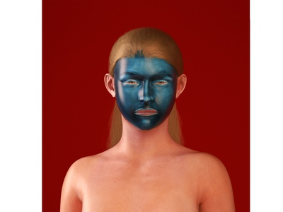 28, Blue face
