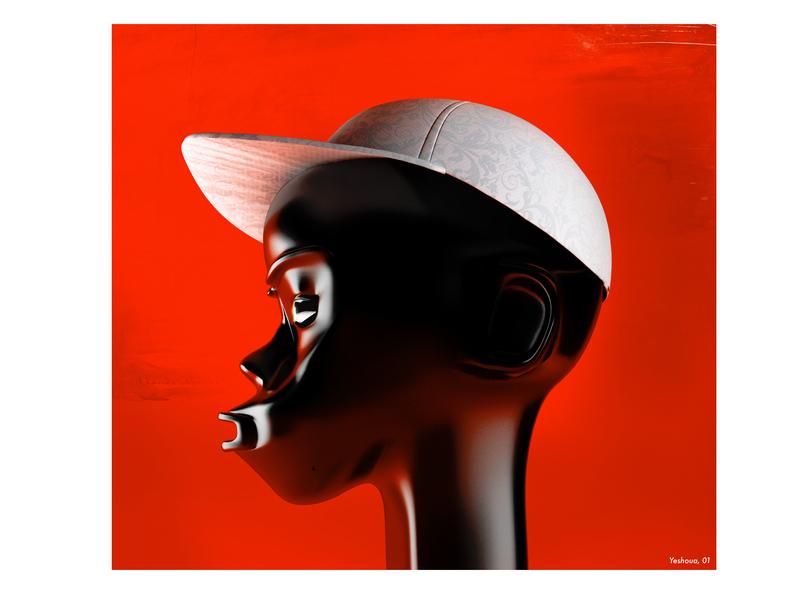 Untitled character with cap 3d mask design c4d art direction 3d art illustration artwork