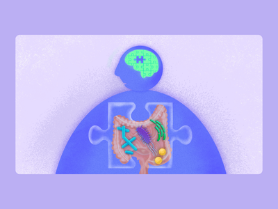 Microbiome medical microbiome science biology illustration