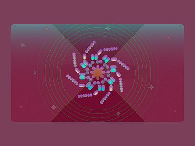 NLRP3, the inflammasome danger sensor protein science medical biology illustration