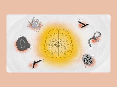 Bacteria and Viruses bacteria virus science medical biology illustration