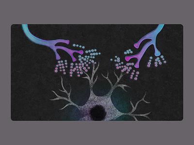 Glutamate, excitation overload glutamate mnd science medical biology illustration
