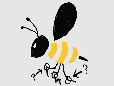 Doodling back to a tweet doodle tweet bee yellow stinger what