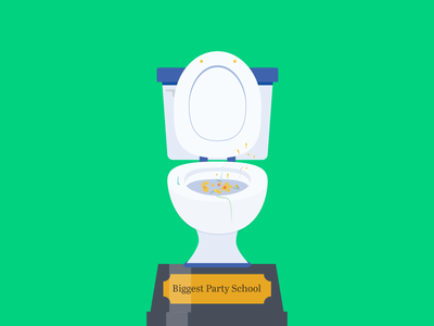 Award for the college that parties the most drinking gross puke vomit party toilet