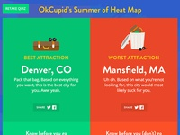 OkCupid's Summer of Heat Map results