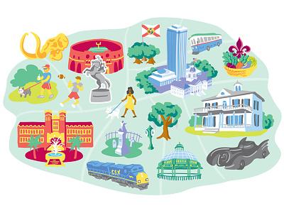 City Icons map illustration digital iconography icons icon vector illustration vector map illustration