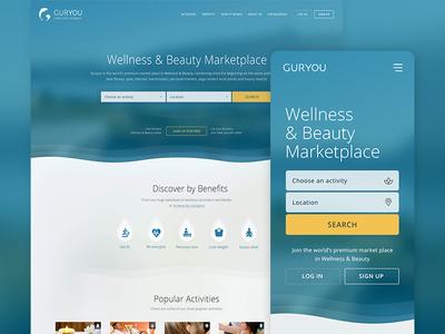 Guryou web app design branding design ui ux