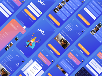 Gofix app design ux ui
