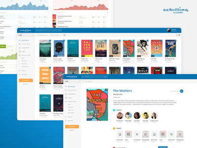 Schilling Cloud visual design saas interaction product design app web minimal ux ui design