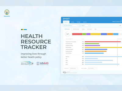 Health Resource Tracker: DHSST web visual design product design interaction branding ux ui design