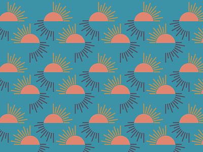 Sunrise Sunset patterns vector geometric