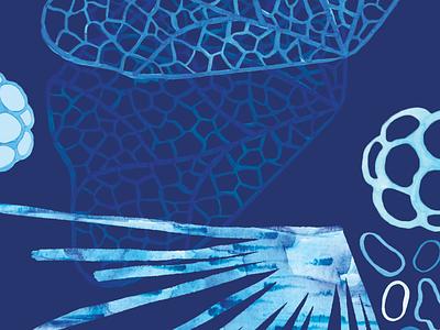 Deep Sea Diving surface design watercolor patterns