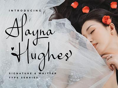 Alayna Hughes alaynahughes handwritten signature luxury feminine elegant rantaustudio rantautype font stylis