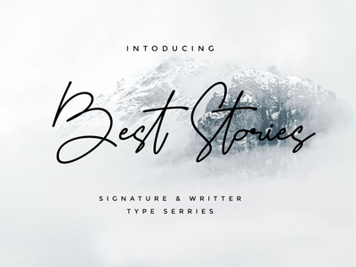 Best Stroies stories best envanto font design logo design brand type lettering font branding rantautype