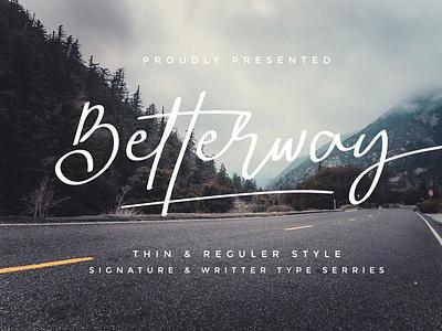 Betterway envanto font design logo design brand vector type lettering font branding rantautype