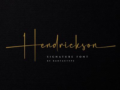 Hendrickson element envanto font design logo brand type lettering font branding rantautype