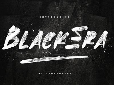 BlackEra // Brush Font element envanto font design logo brand type lettering font branding rantautype