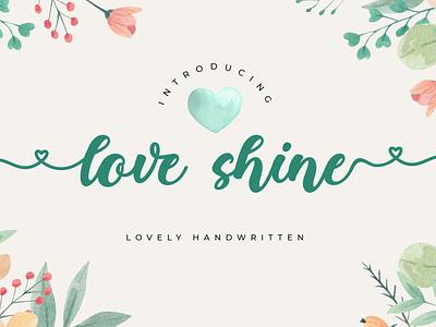 LoveShine // Lovely Font element market lovely envanto font design design logo brand type lettering font branding rantautype