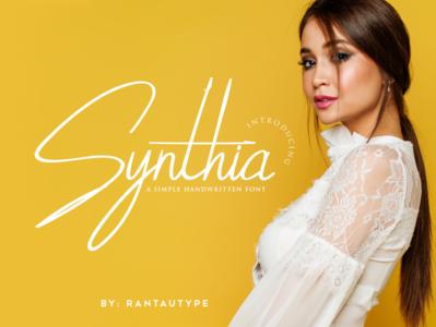 Synthia Handwritten Font